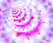 magenta and blue fractal - by Jack Yaco